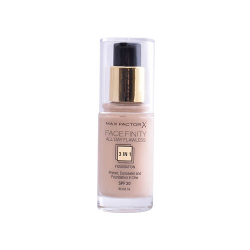 Max Factor Facefinity 3 In 1 Primer, Concealer And Foundation Spf20 55 Beige 30ml